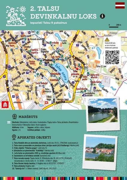Maršruti Talsu novada apceļošanai - Talsu deviņkalnu loks