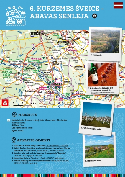 Maršruts 6. Kurzemes šveice - Abavas senleja
