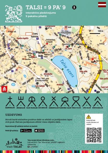 """Talsu tūrisma informācijas centrs piedāvā interaktīvu piedzīvojumu 9 pakalnu pilsētā """"Talsi = 9 pa' 9"""""""