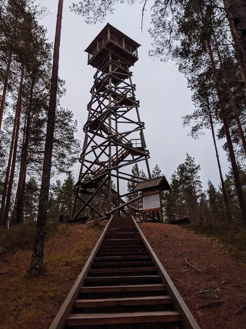 Aktīva laika pavadīšana dabā - Ūdrkalna skatu tornis