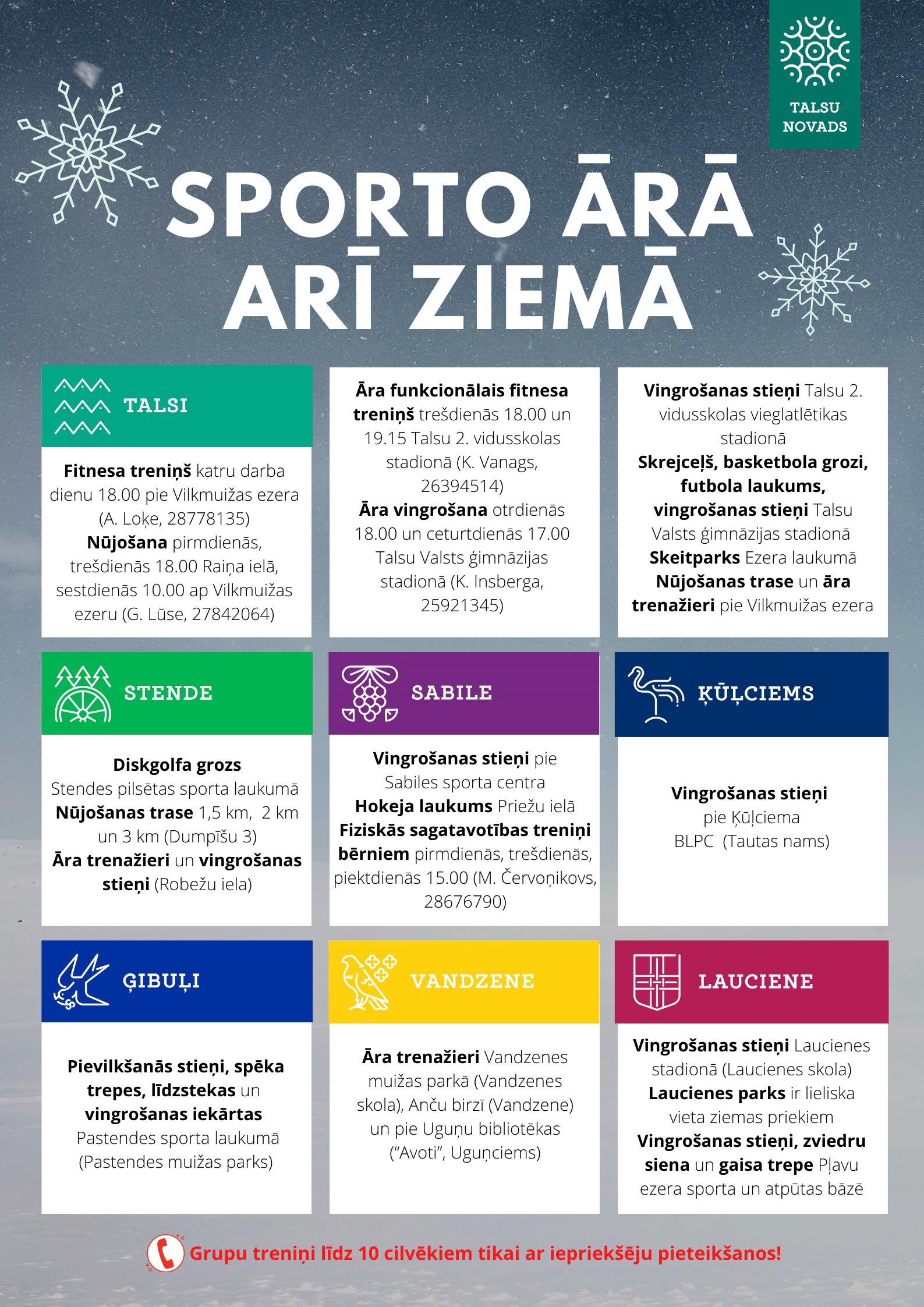 Sporto ārā arī ziemā!